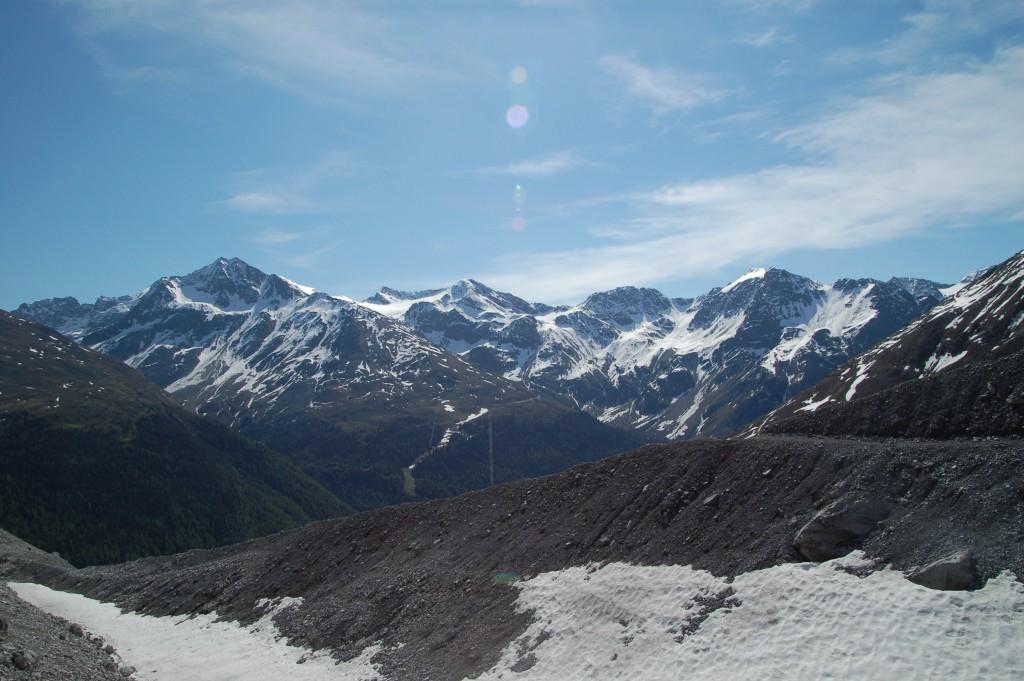 Panoramablick auf Sulden